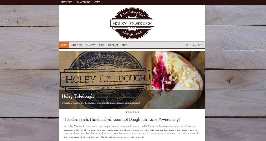 Holey Toledough Website - Old Design