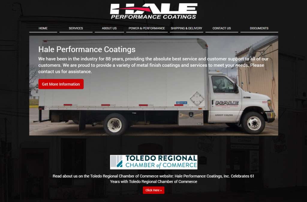 Hale Performance Coatings - New Website